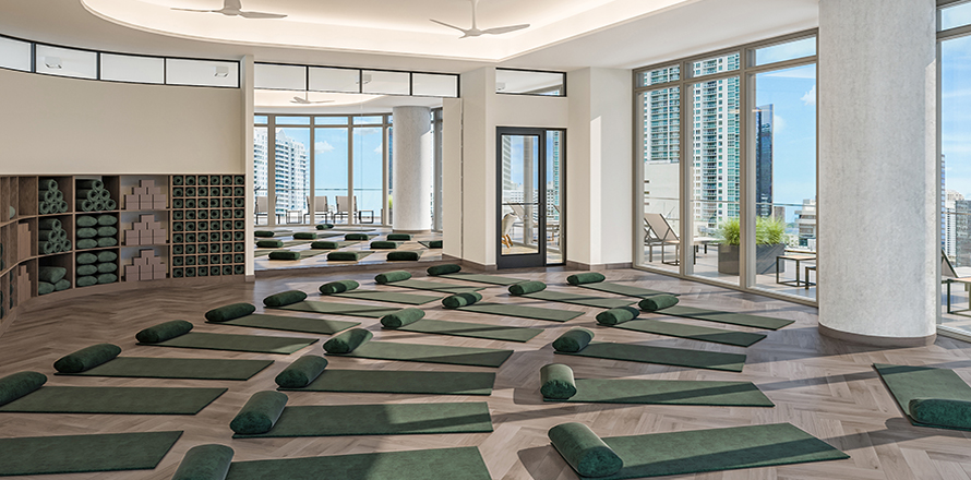 Gym in Downtown Miami with Yoga and Pilates Studios