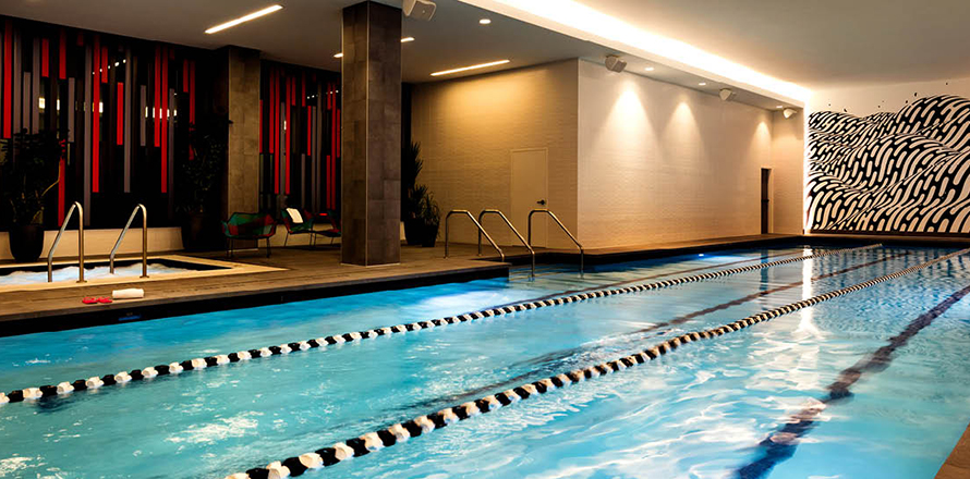Gym in hollywood fitness club with yoga pilates classes - Indoor swimming pool in los angeles ...